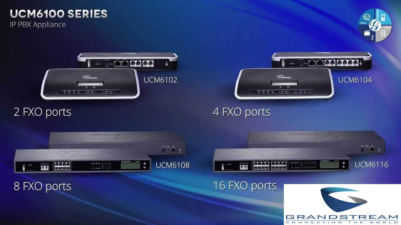 Functions of Grandstream UCM6102 IP PBX